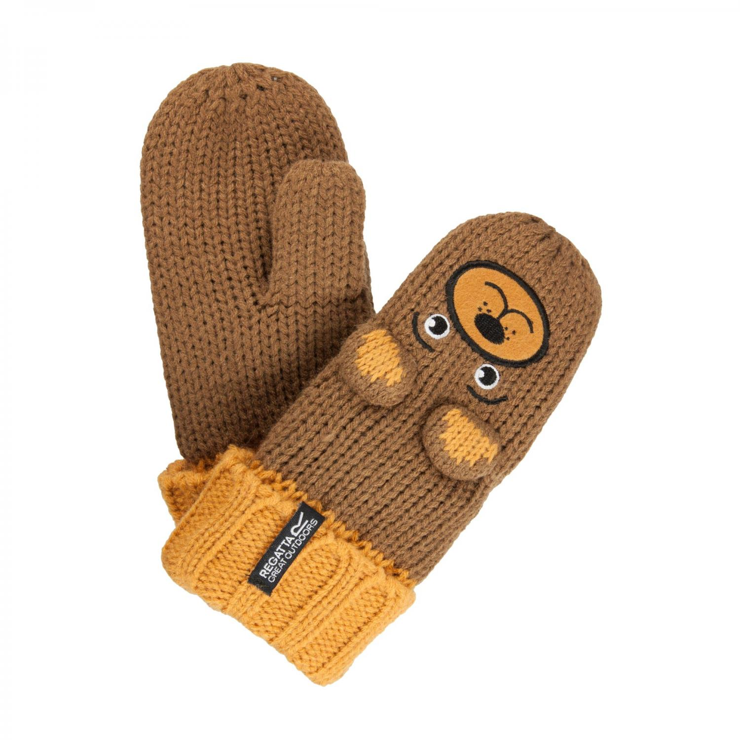 Kids Animally Mitts II Saddle Brown