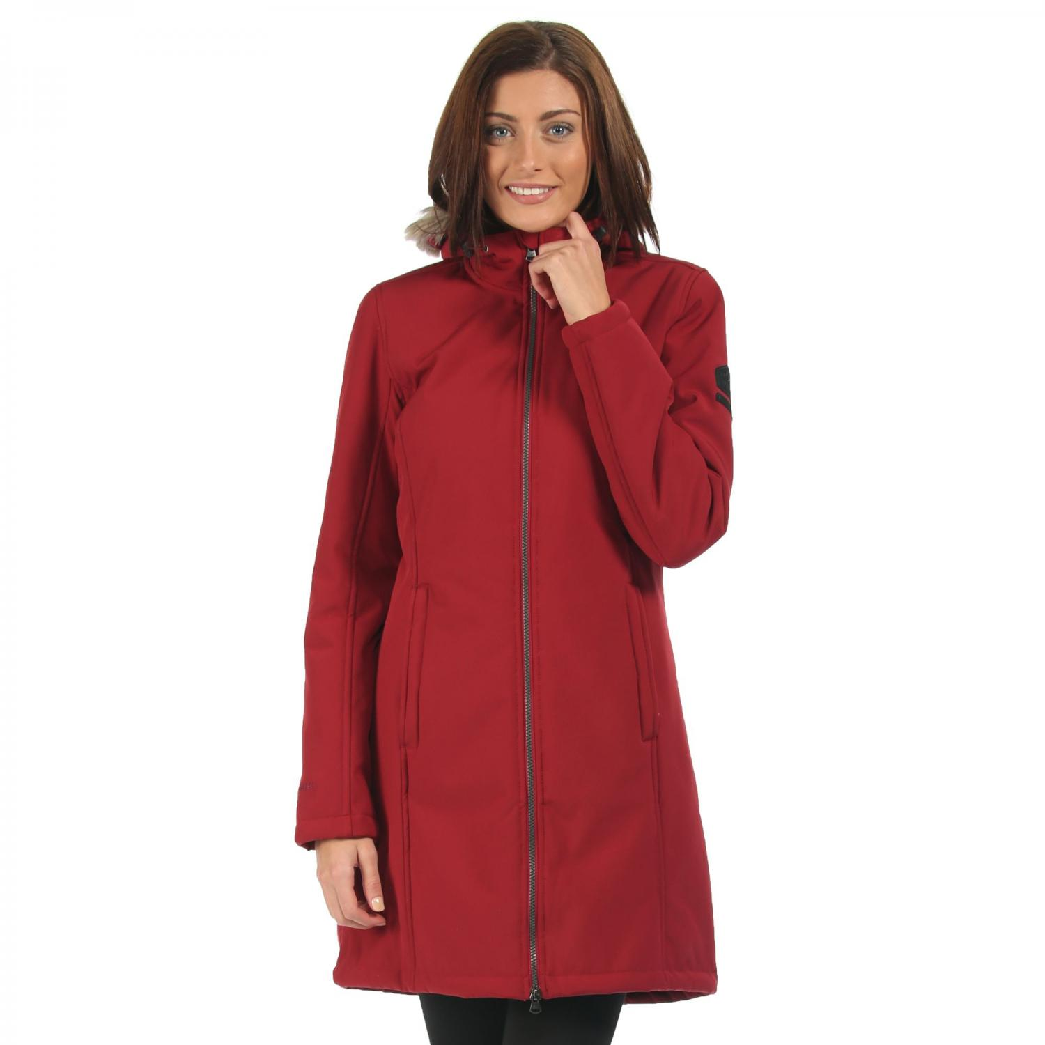 Adhara Softshell Jacket Rhubarb Red
