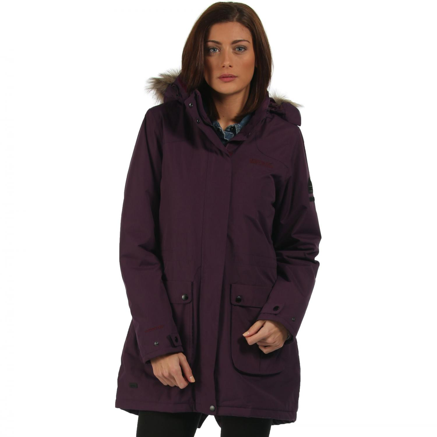 Schima Parka Jacket Blackberry Wine