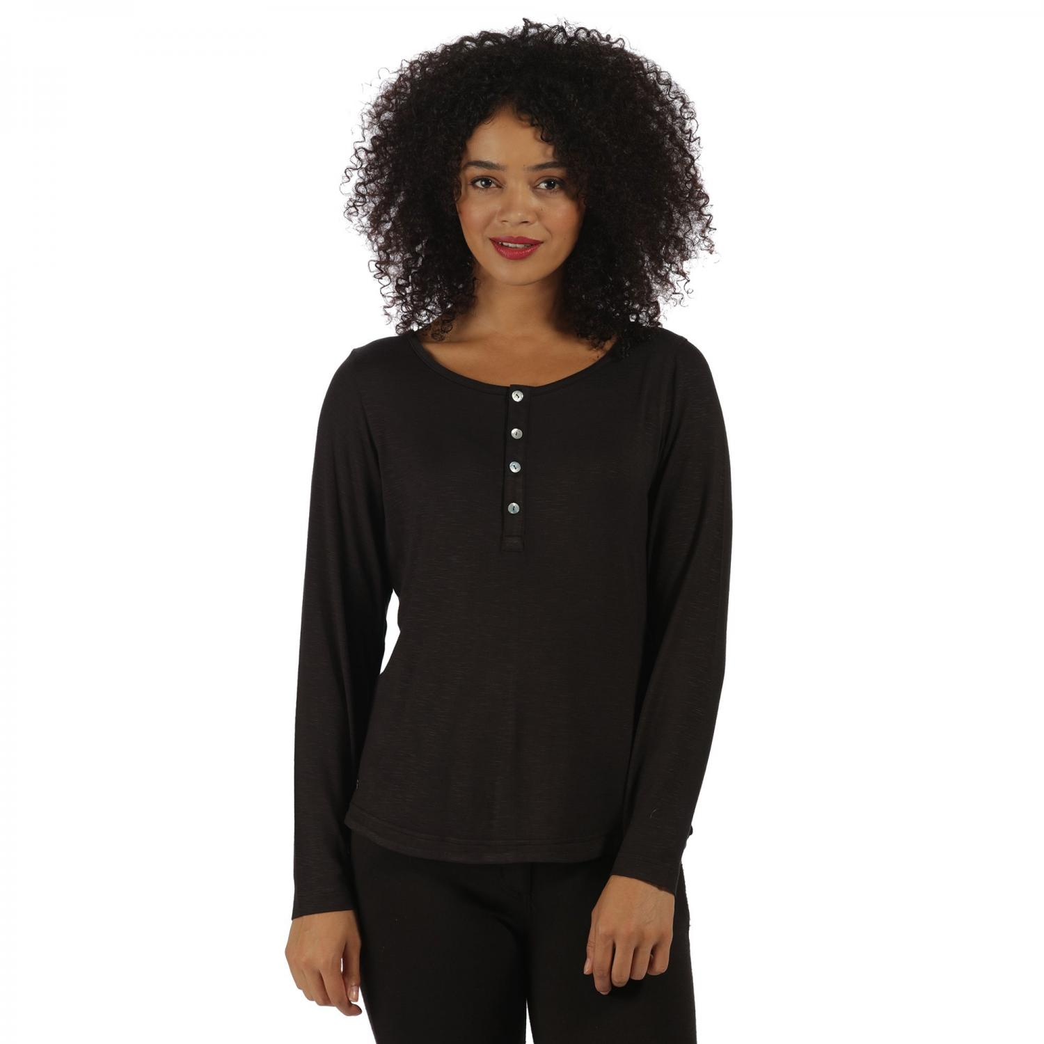 Nolany Long Sleeve Top Black