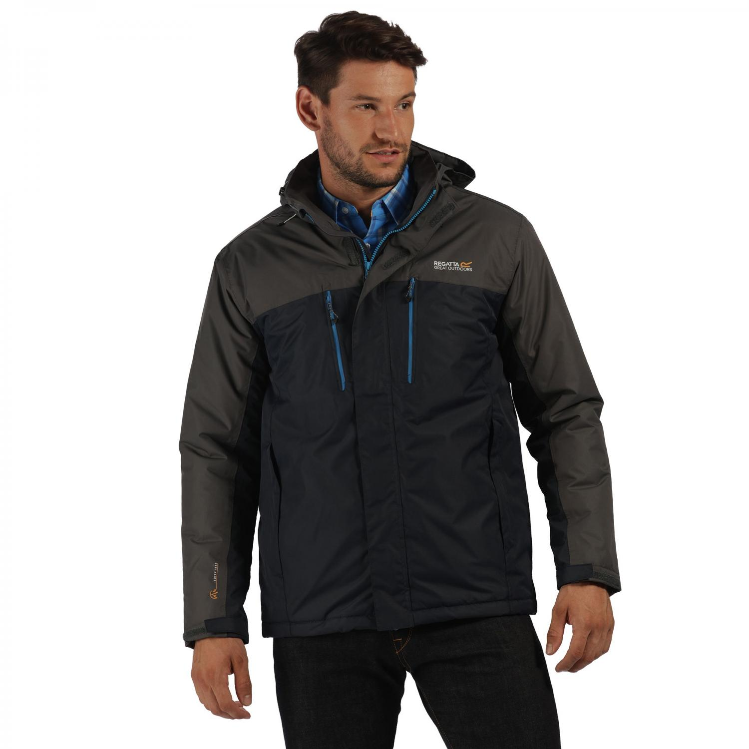 Fabens Jacket Navy Seal Grey