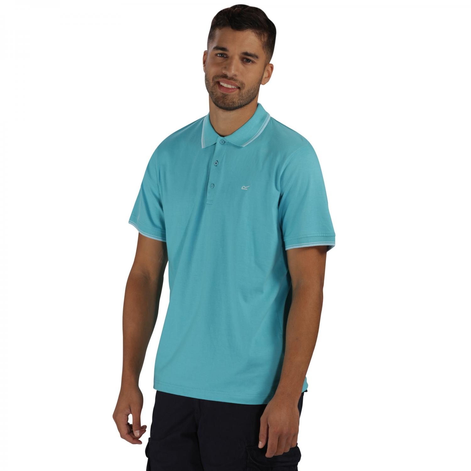 Kaine Polo Shirt Maui Blue