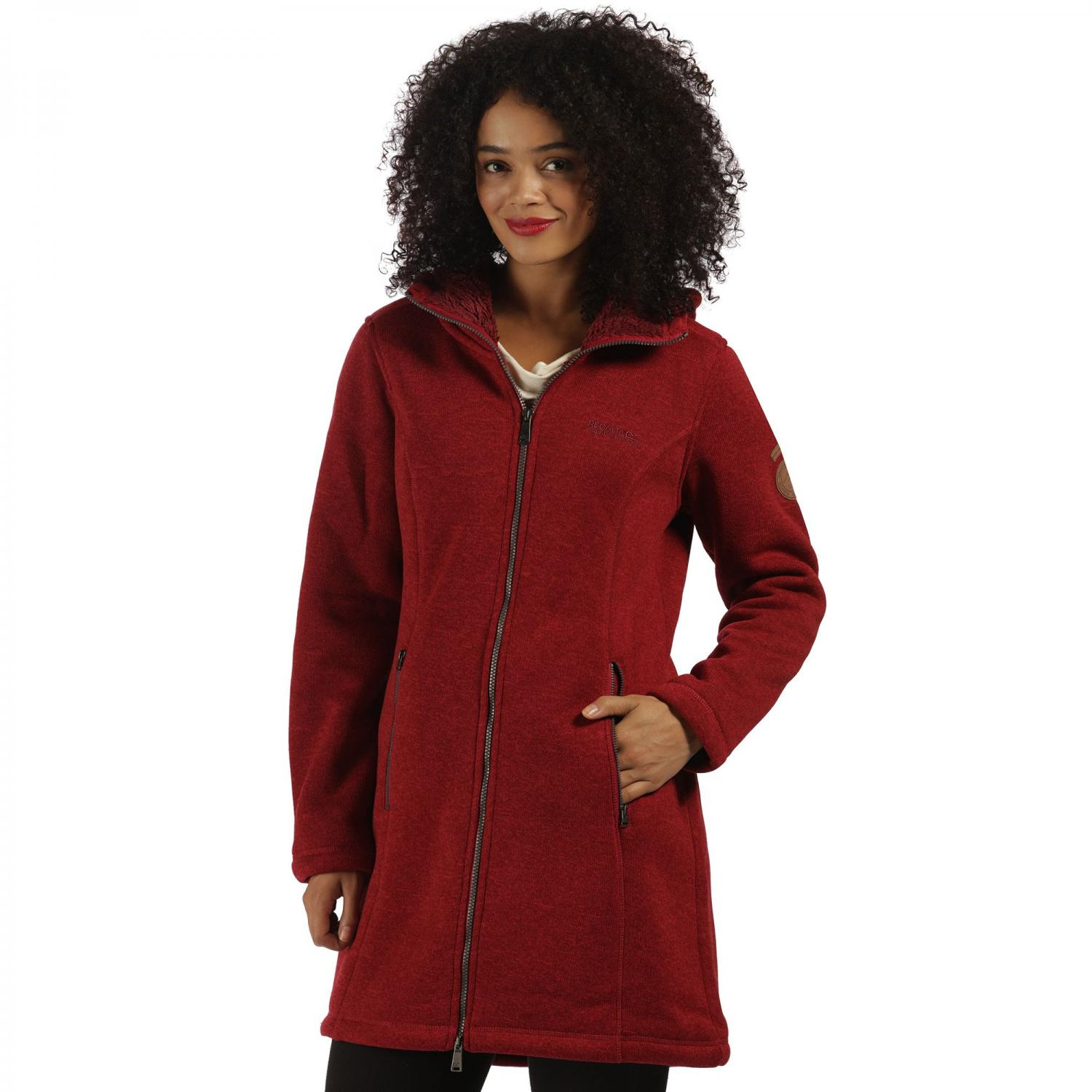 Radella Hooded Fleece Rhubarb Red