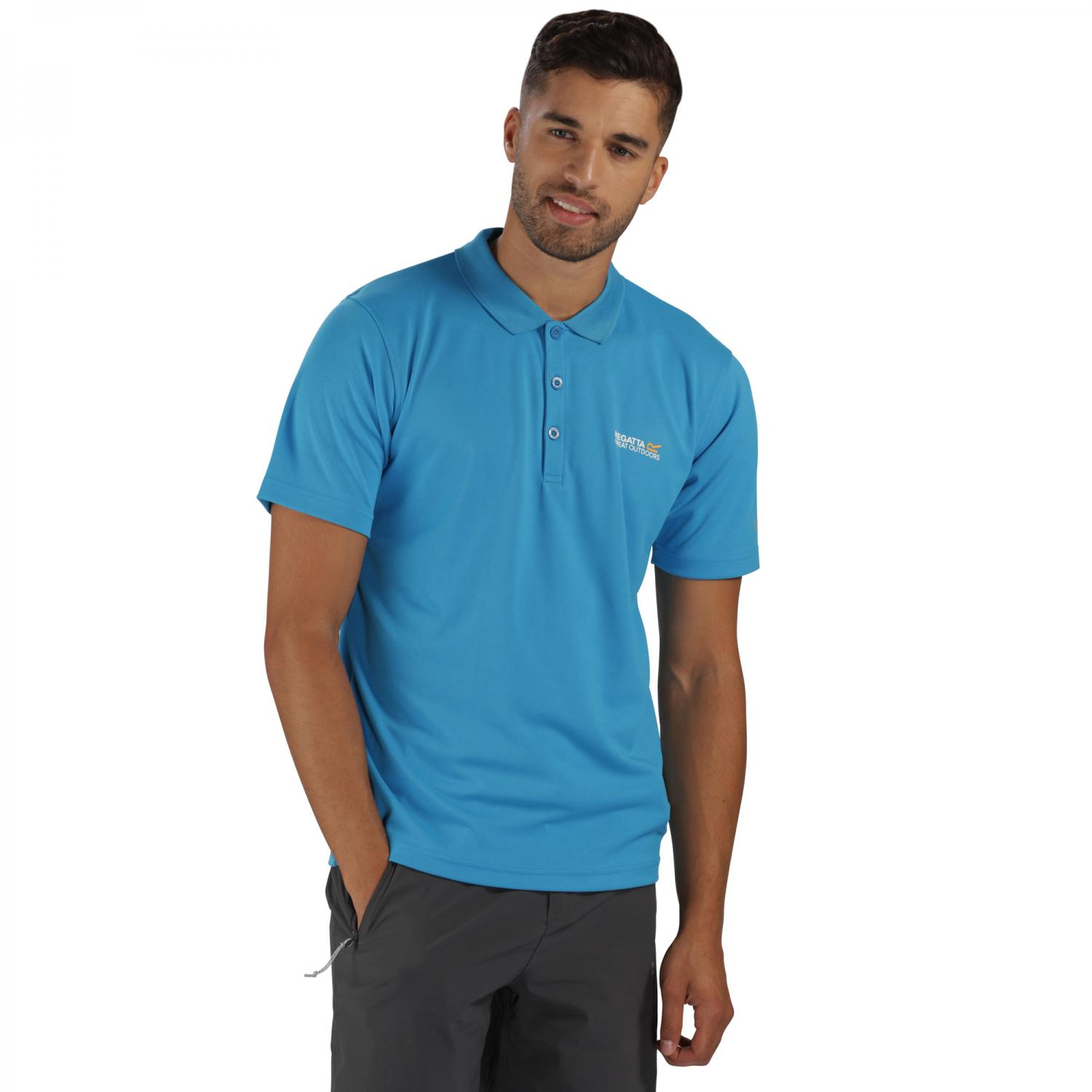 Maverik III Polo Shirt Hydro Blue