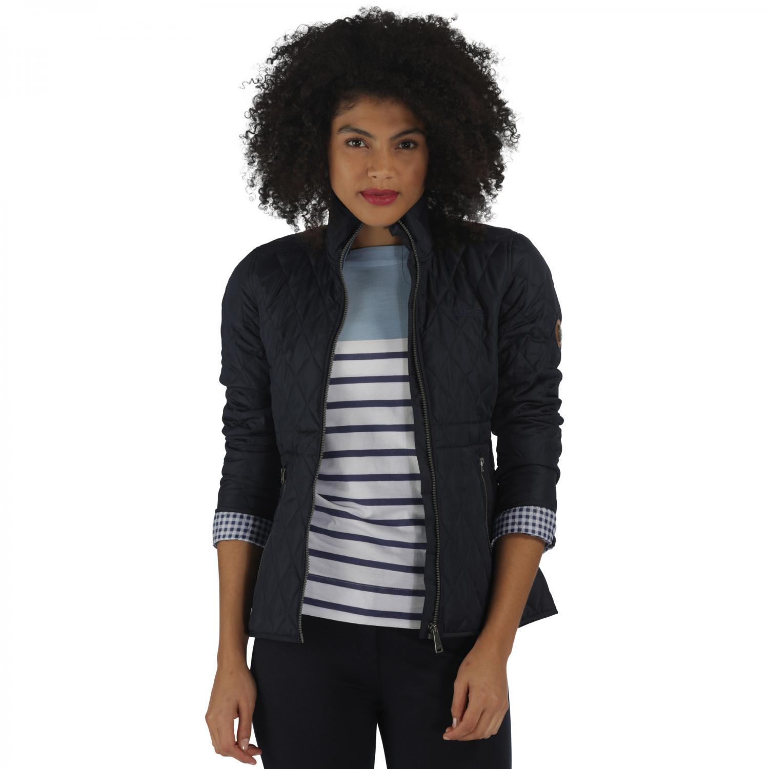 Cosmia Quilted Jacket Navy