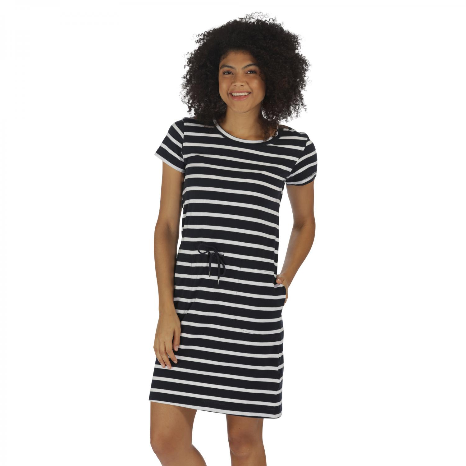 Harissa Dress Navy Stripe