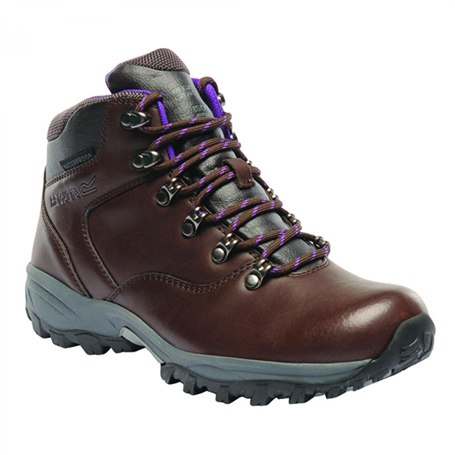 Lady Bainsford Hiking Boot Chestnut Purple