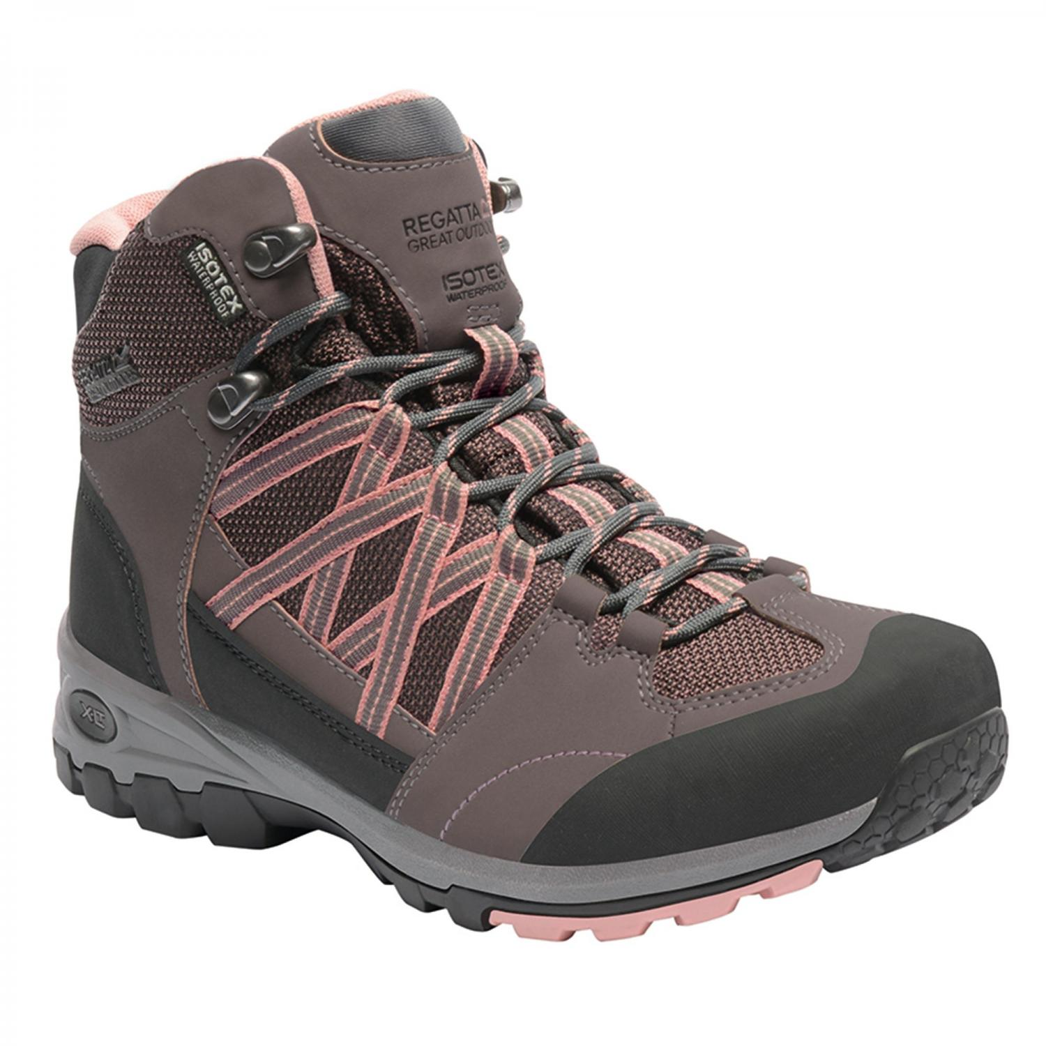 Lady Samaris Mid Hiking Boot Walnut Rose Tan