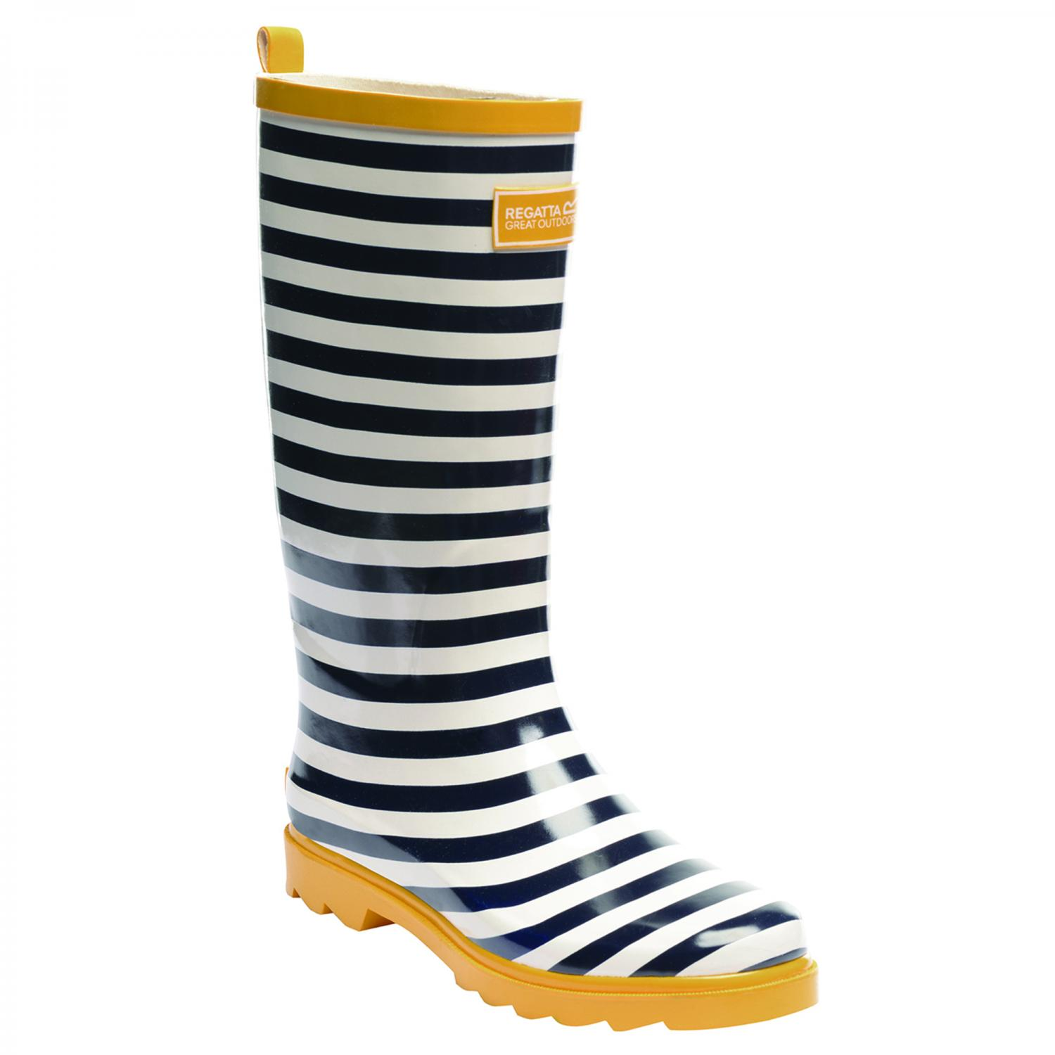 Lady Fairweather Wellington Boot Navy White