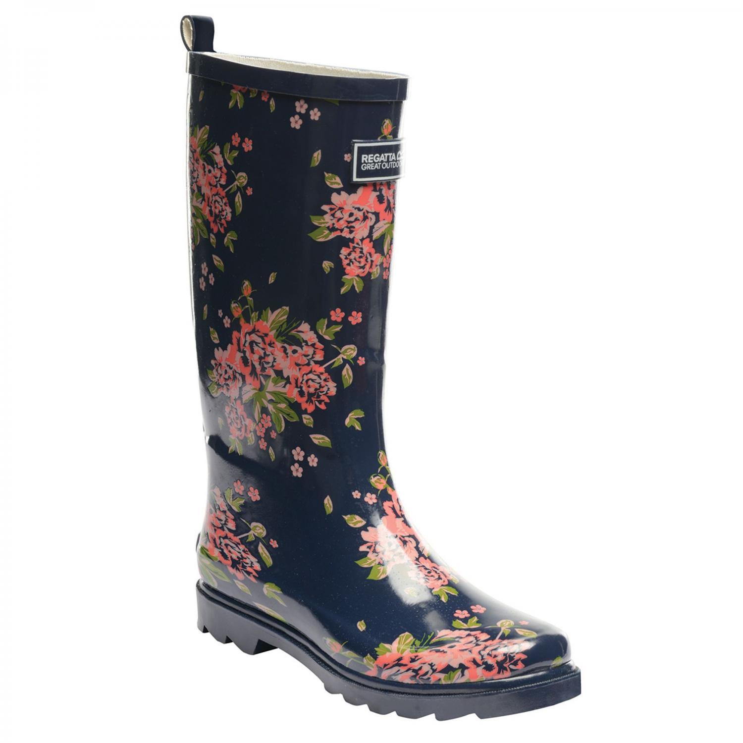 Lady Fairweather Wellington Boot Navy Floral