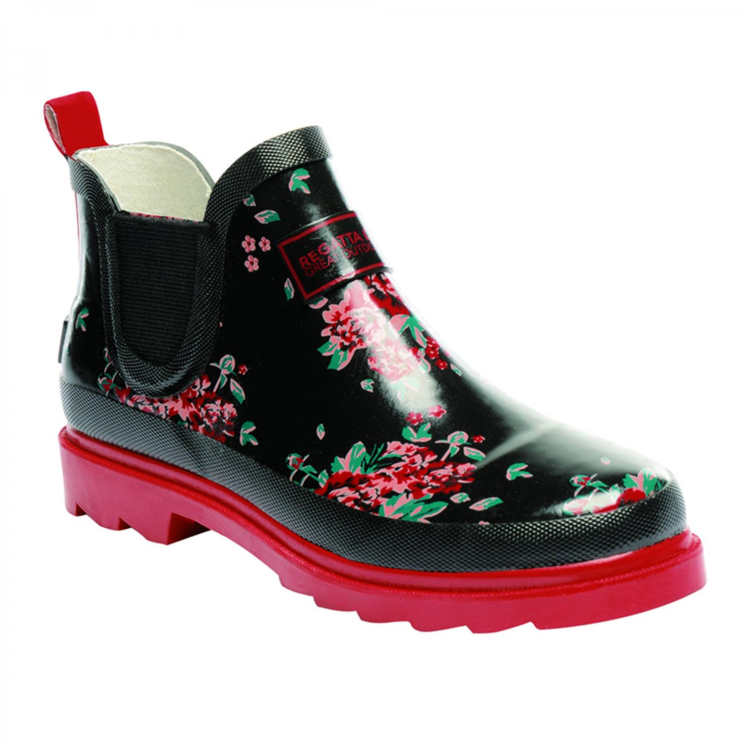 Lady Harper Low Wellington Boot Black Molten