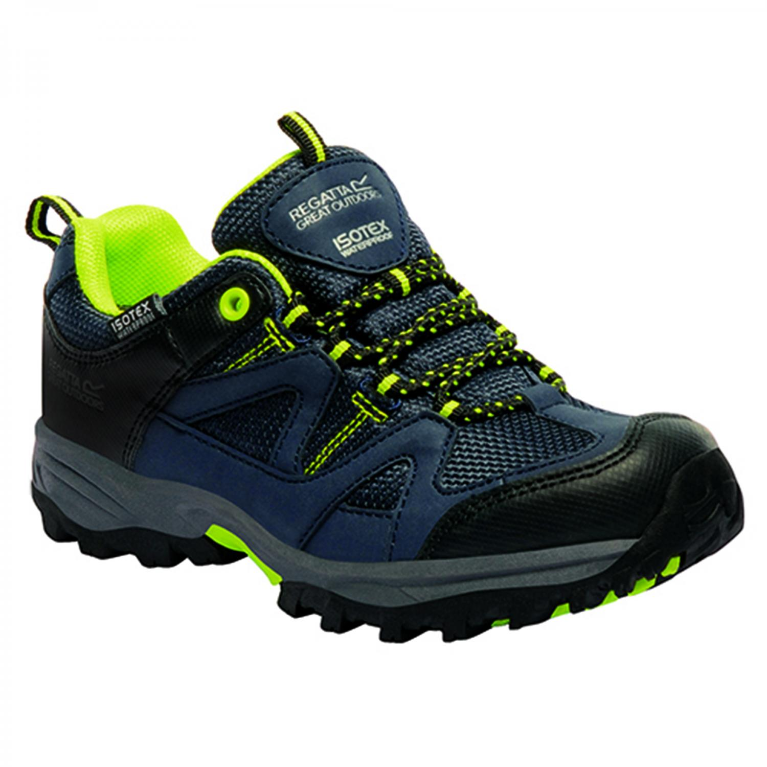 Gatlin Low Junior Walking Shoe Navy Lime