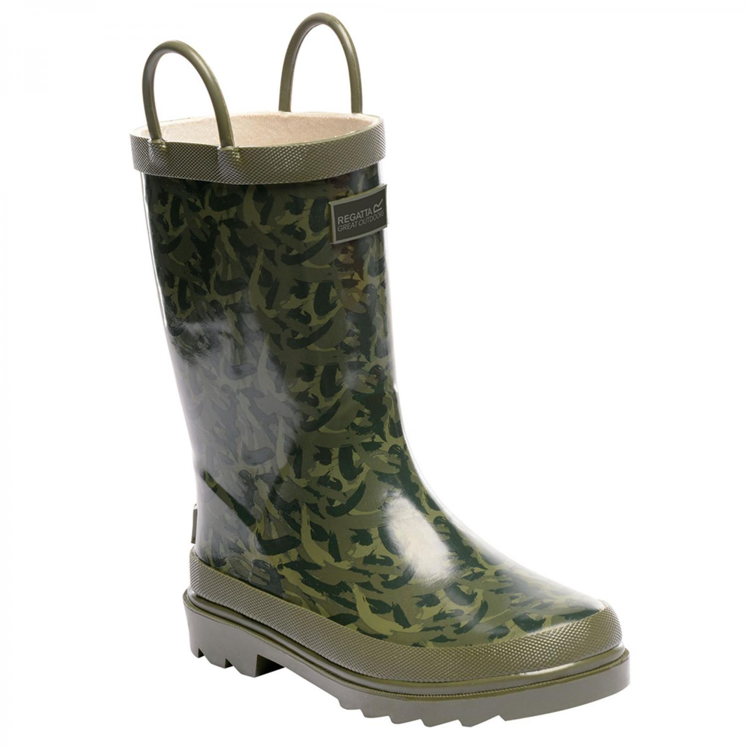 Minnow Junior Wellington Boot Fauna Bay Leaf
