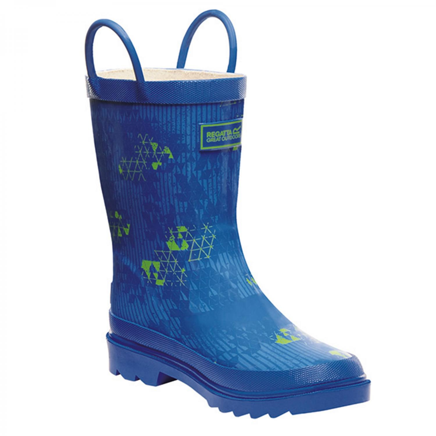 Minnow Junior Wellington Boot Blue Green
