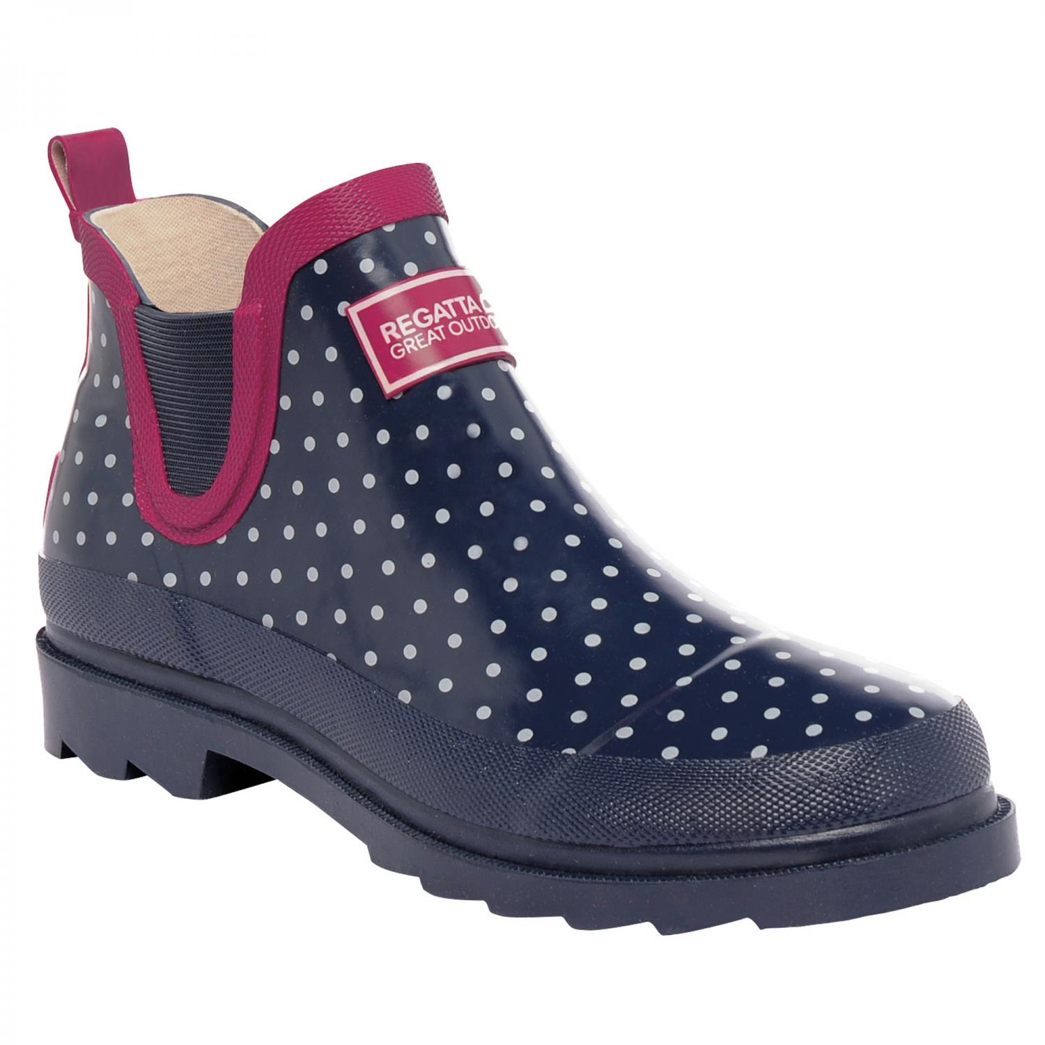 Lady Harper Low Wellington Boot Navy Vivacious