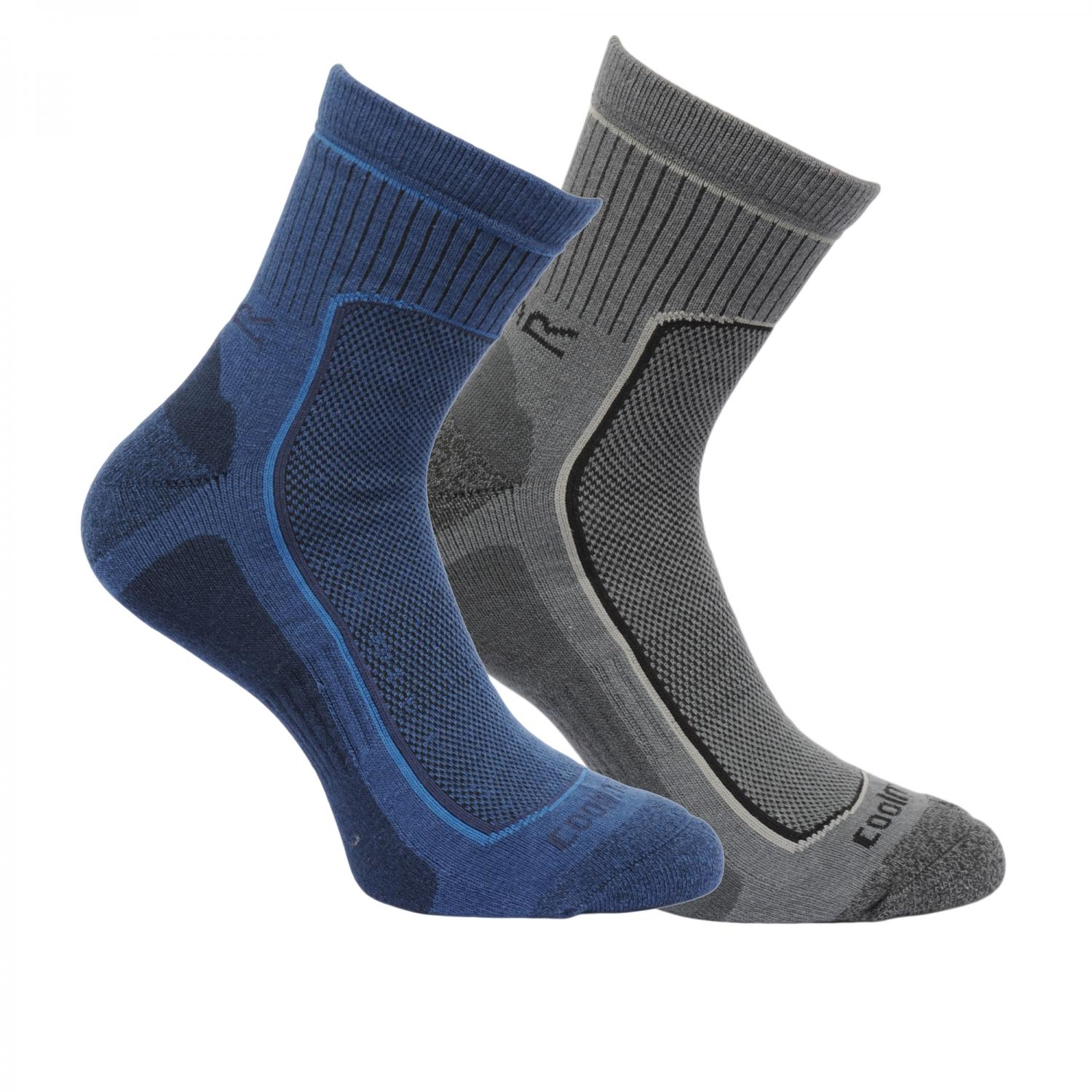 Mens 2 Pack Active Lifestyle Socks Dark Denim Granite