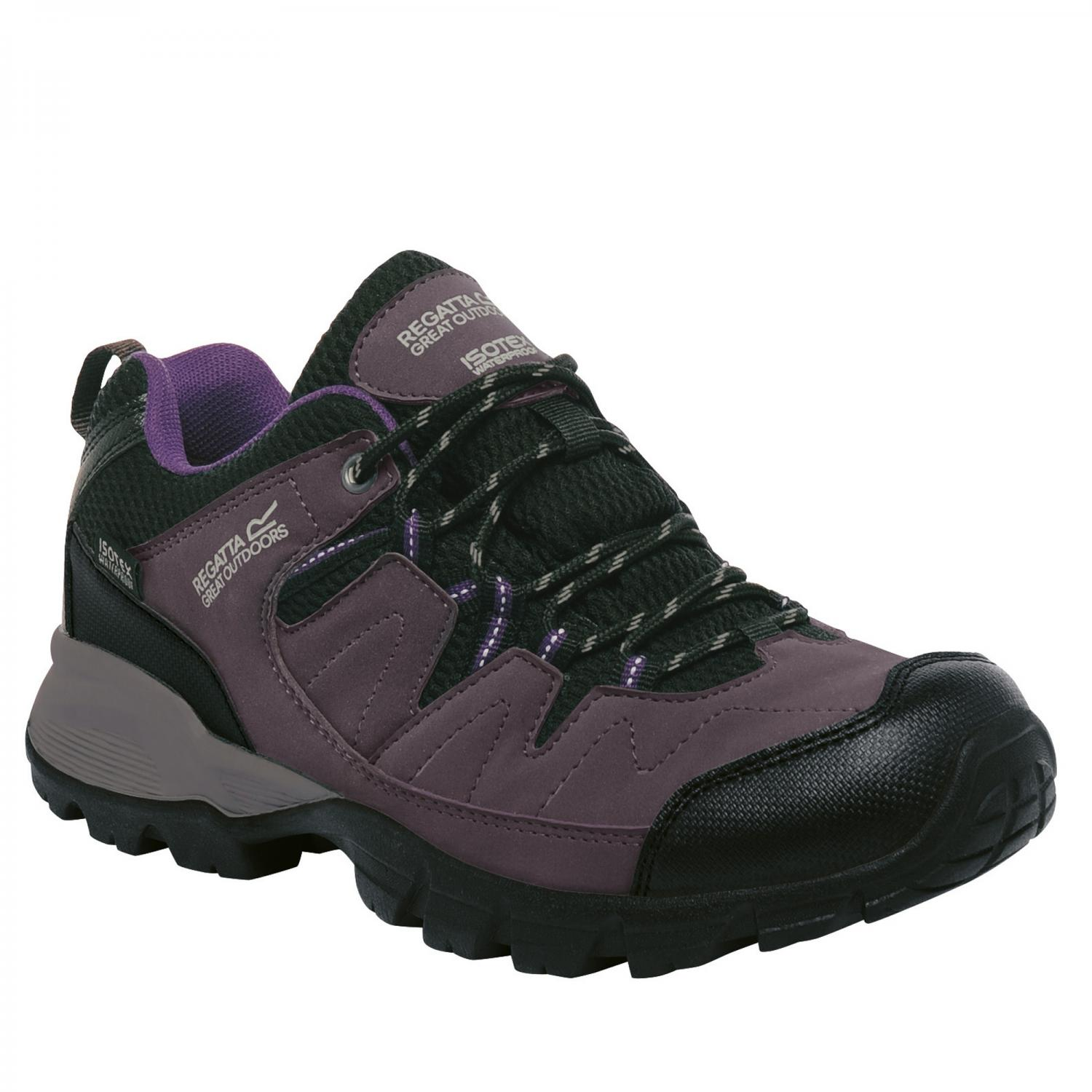 Lady Holcombe Low Walking Shoe Shark Blackberry