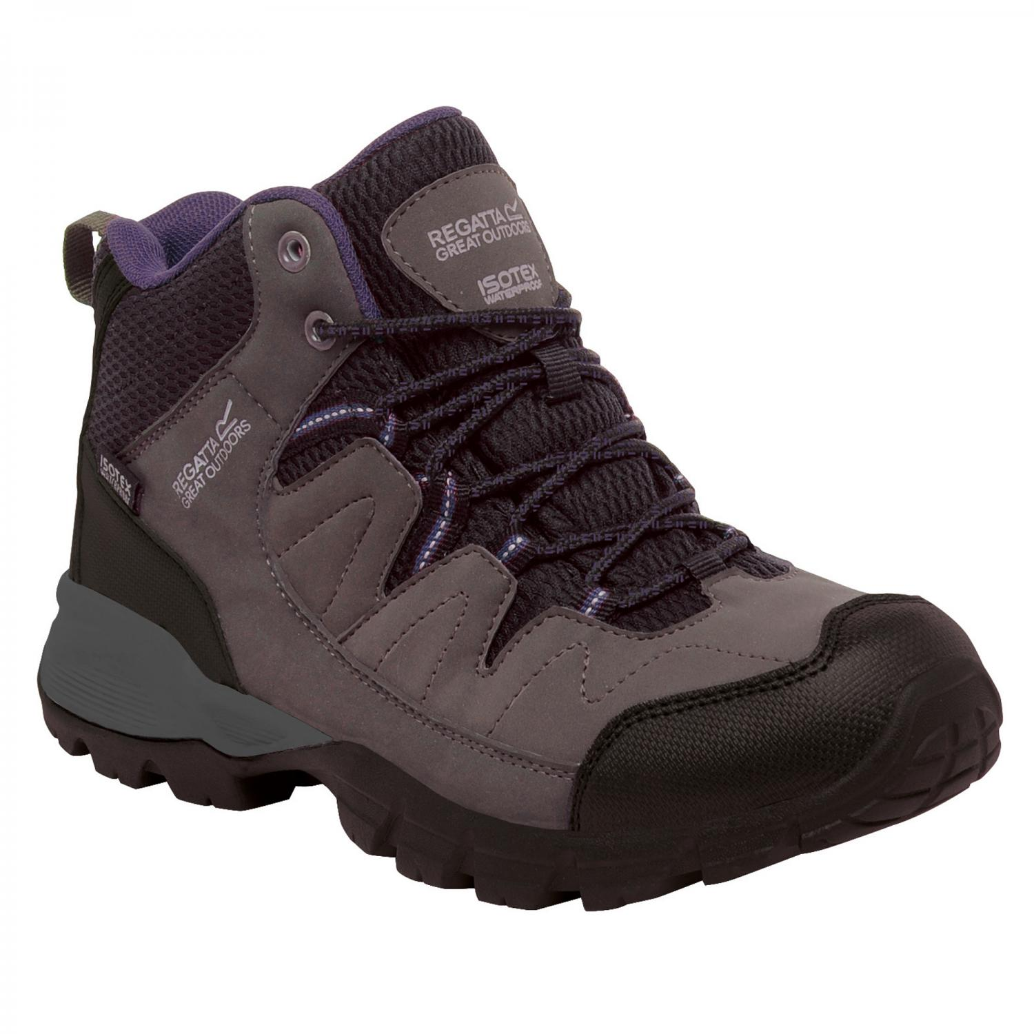 Lady Holcombe Mid Walking Boot Shark Blackberry