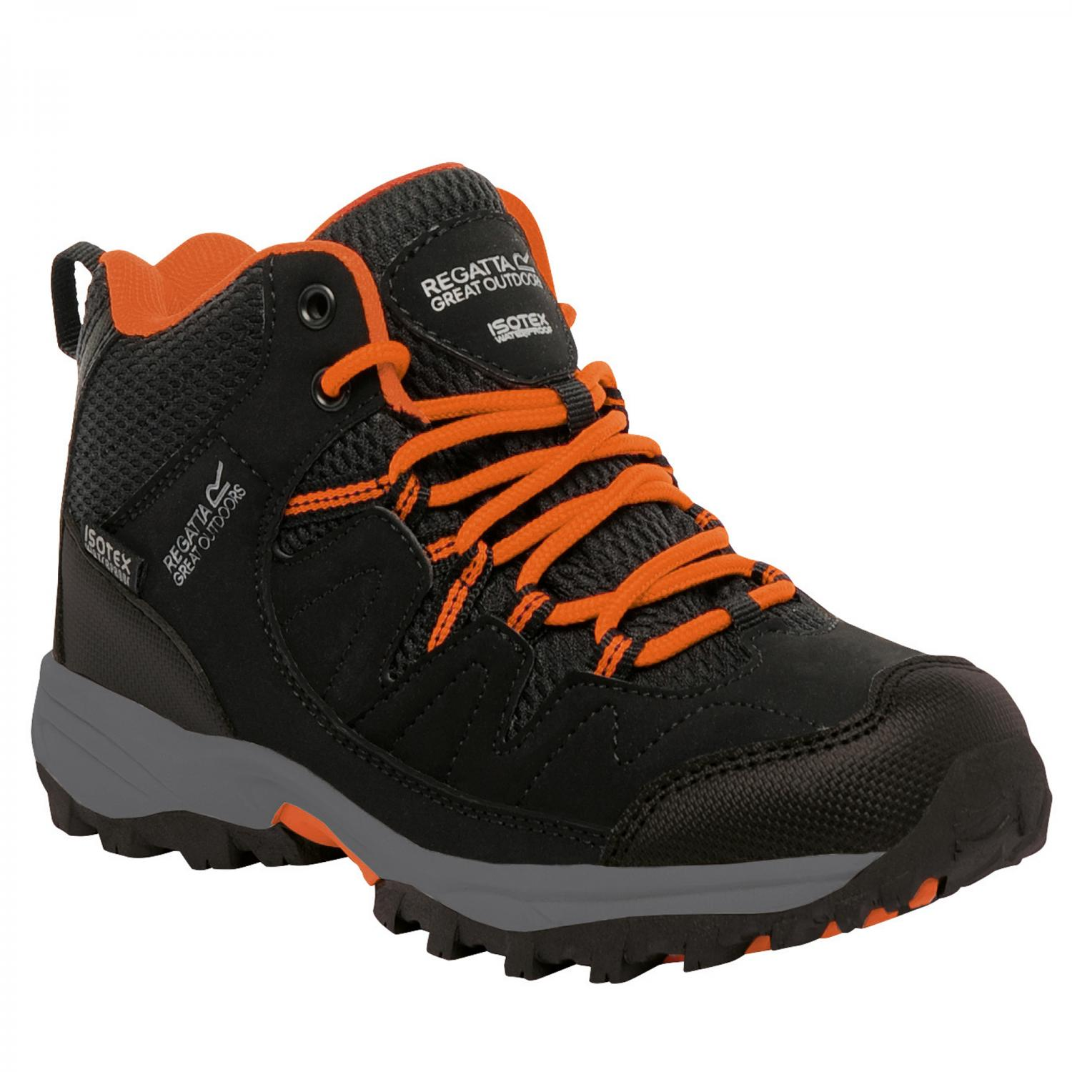 Holcombe Mid Junior Walking Boot Black Magma