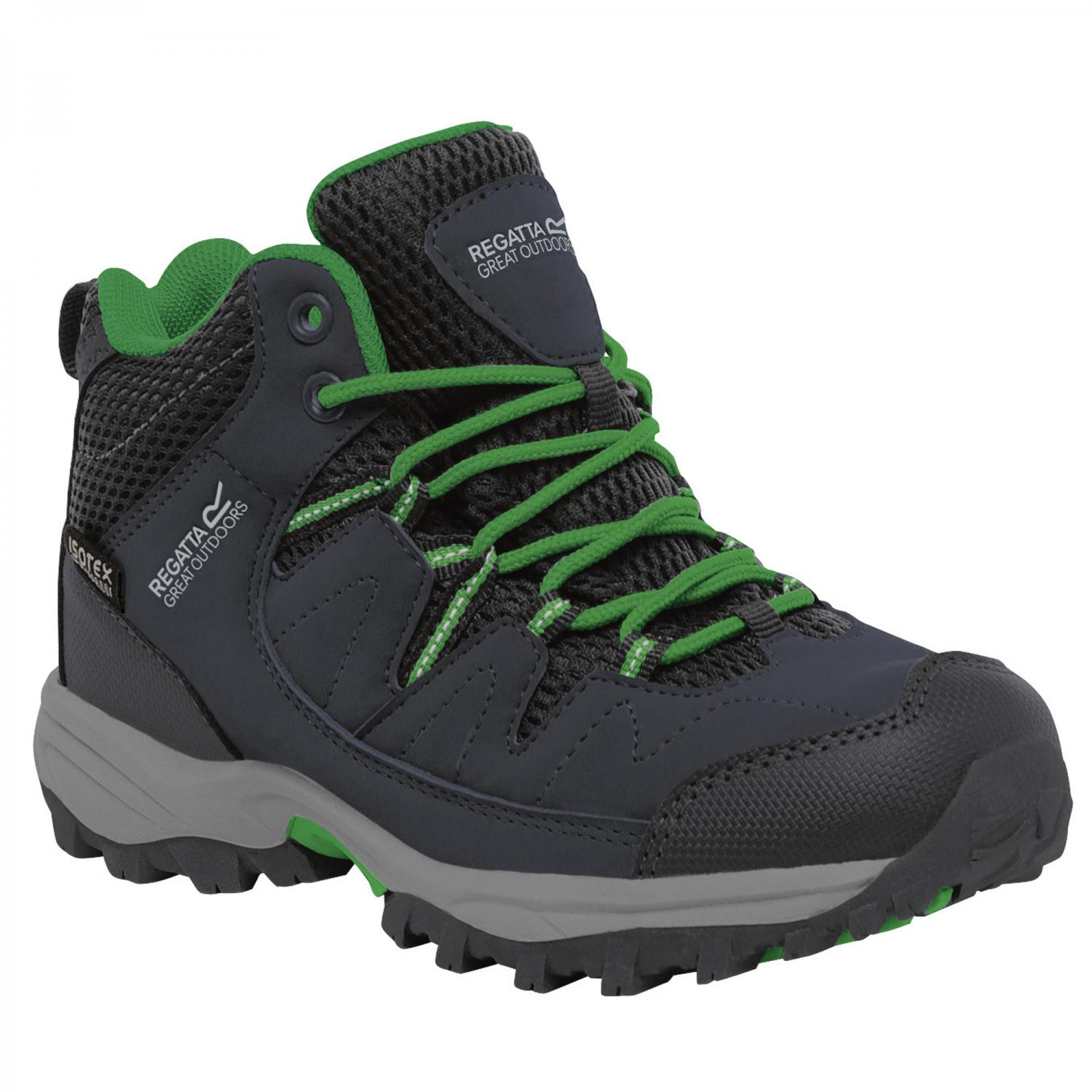 Holcombe Mid Junior Walking Boot Seal Grey Green