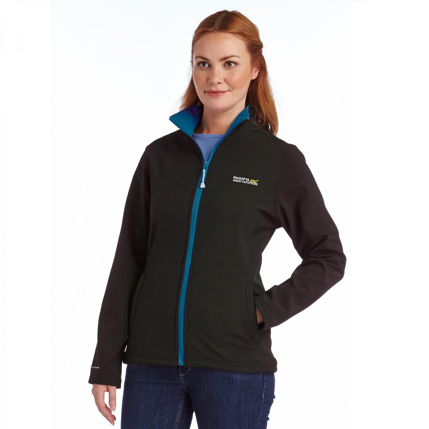 Connie III Softshell Jacket Black Petrol Blue