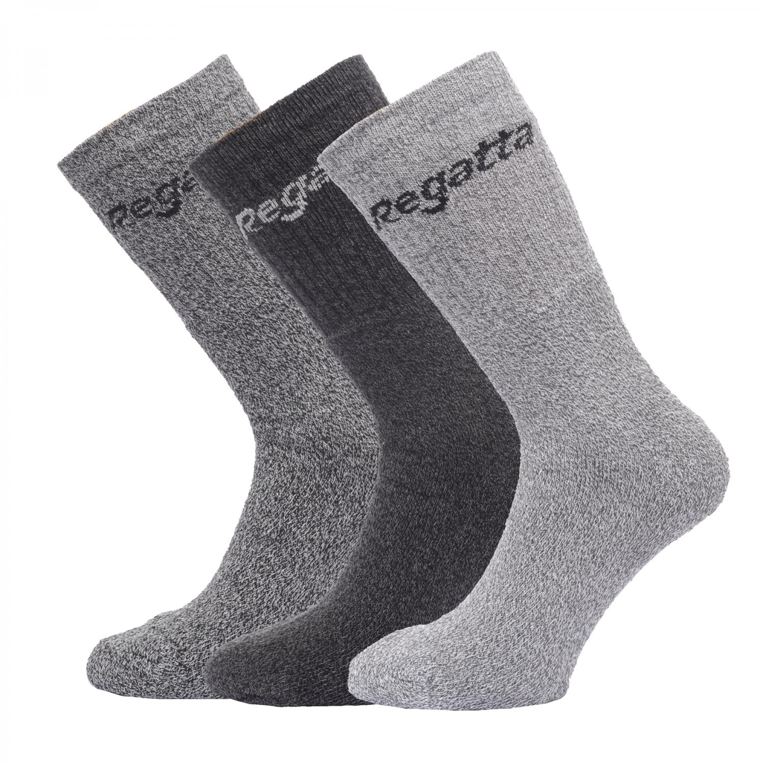 Mens 3 Socks  Box Grey Marl