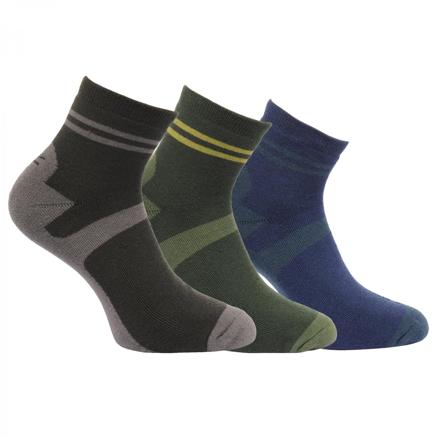 Mens 3 Pack Active Lifestyle Socks Ravn Bayleaf Navy