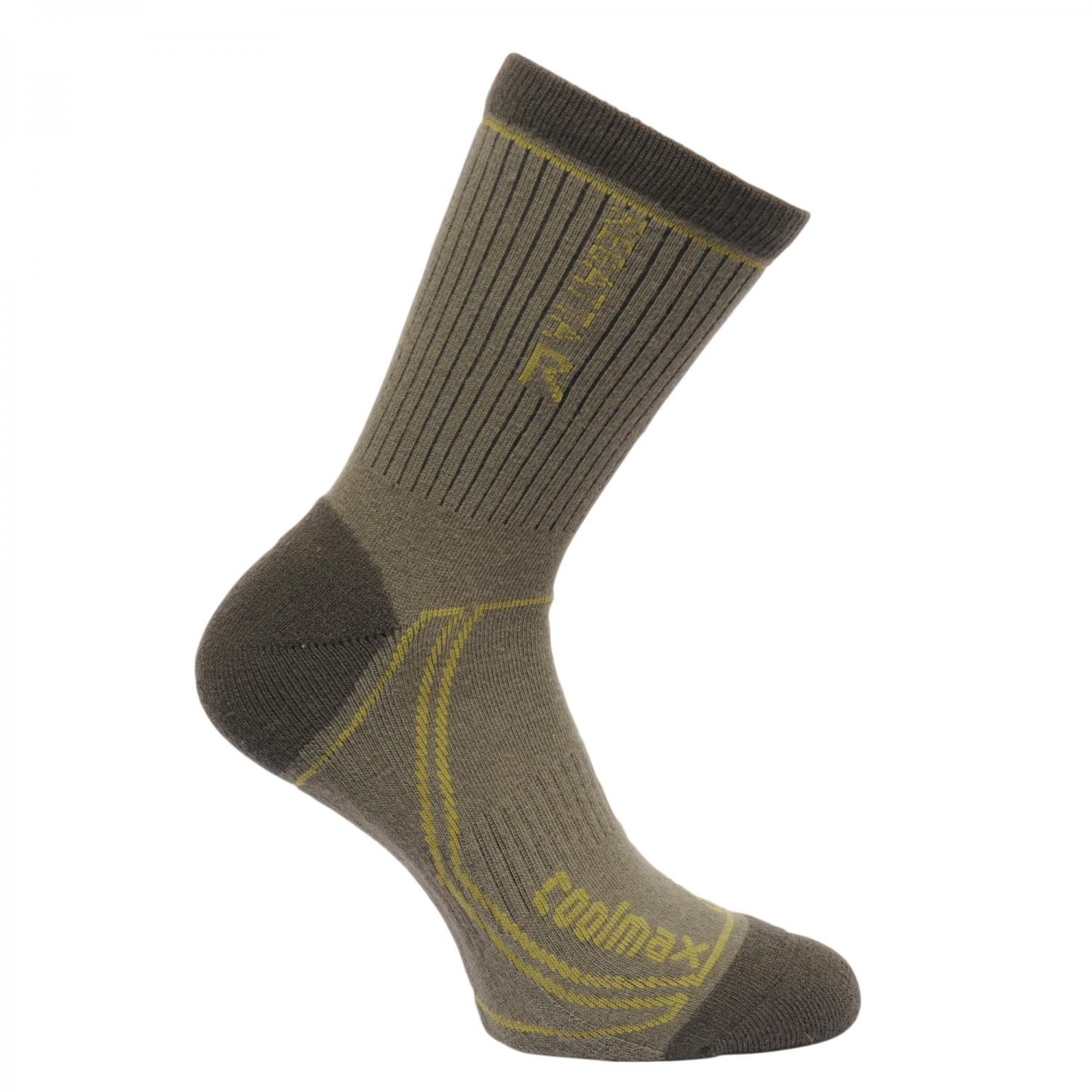 Mens 2 Season Coomax Trek & Trail Sock Dusty Olive Spring