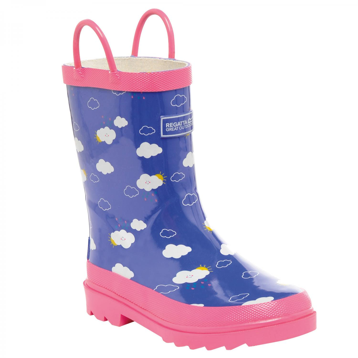 Minnow Junior Wellington Boot Peony Pretty Pink