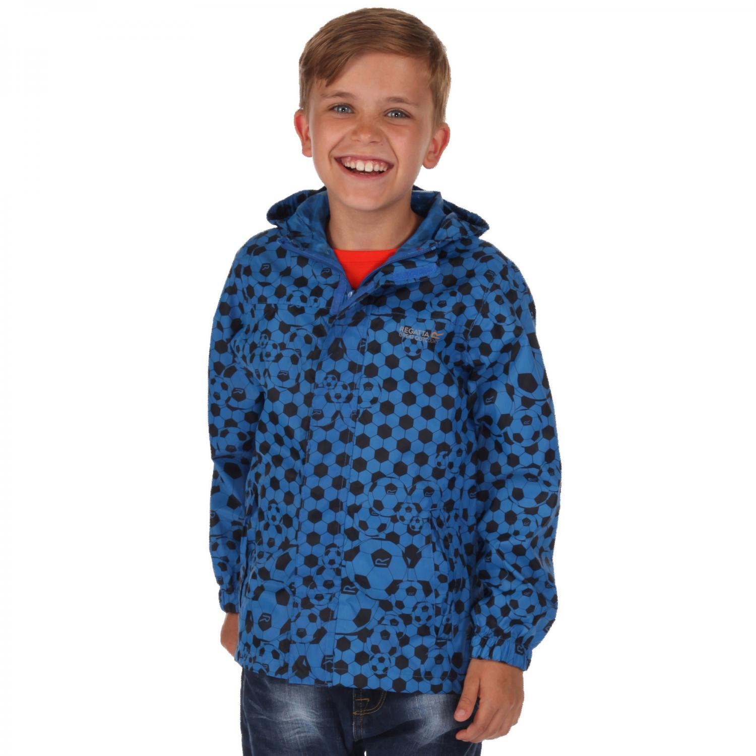 Kids Printed Pack It Jacket Oxford Blue