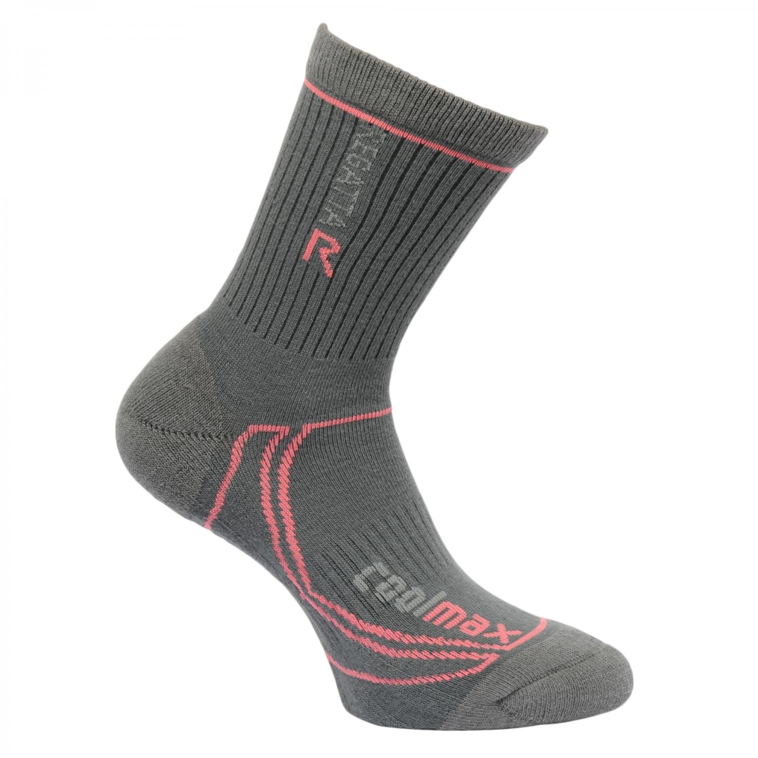 Womens 2 Season Coolmax Trek & Trail Socks Iron