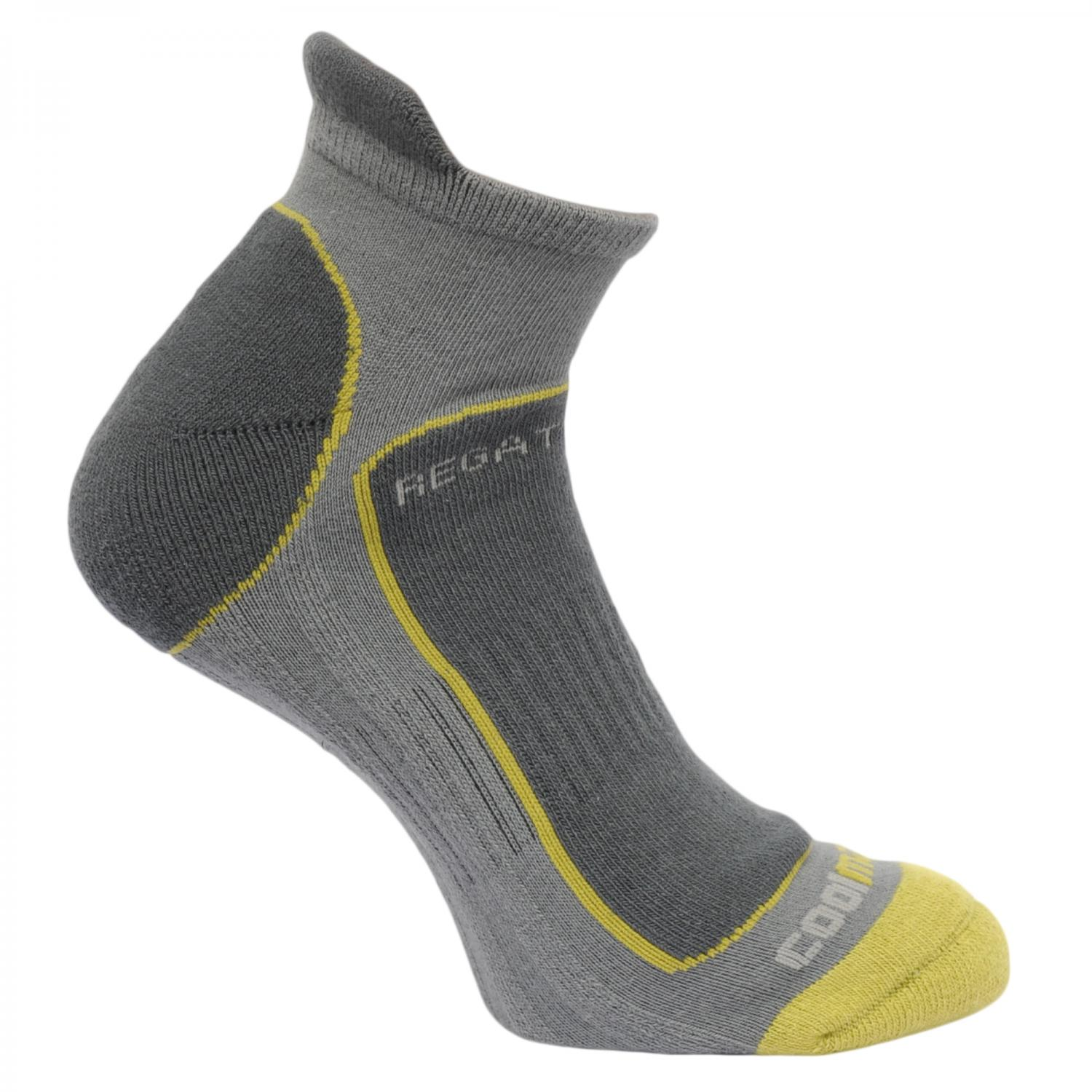 Mens Trail Runner Socks Granite OasisGreen