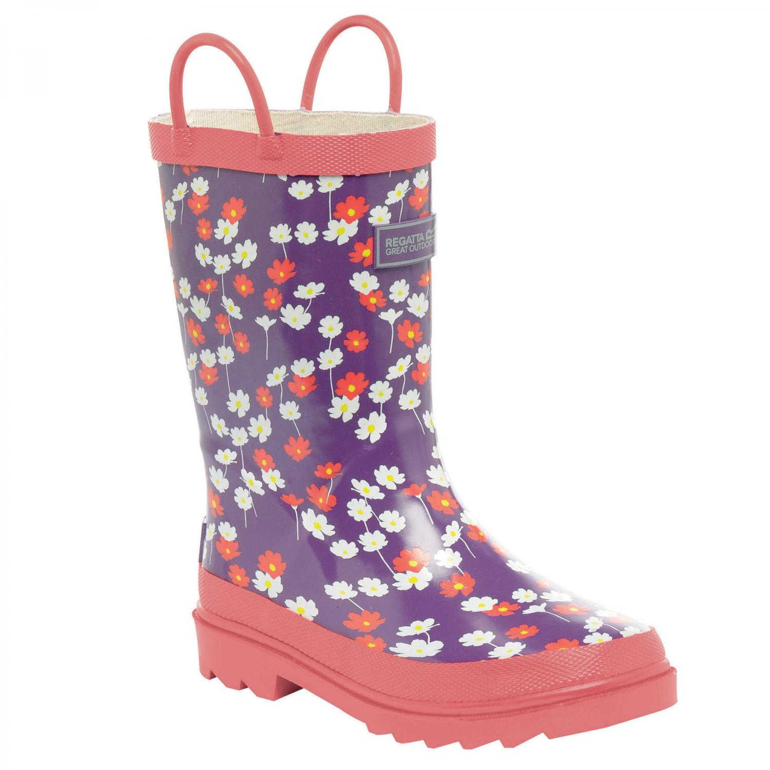 Minnow Junior Wellington Boot Purple Heart