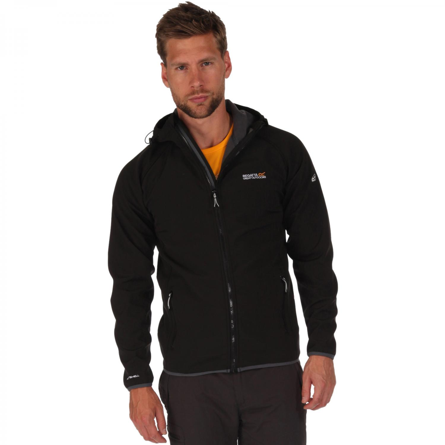 Arec Softshell Jacket Black Seal Grey