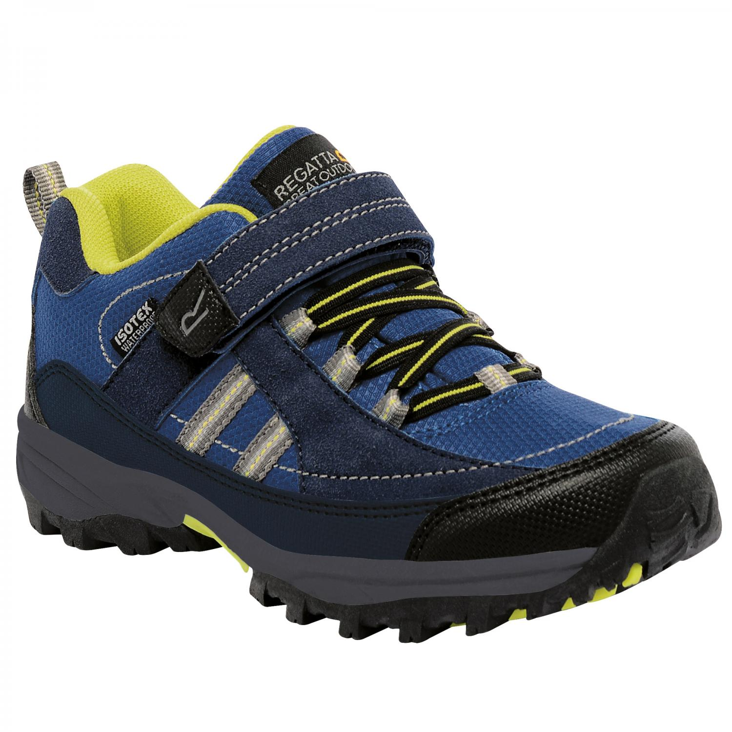 Trailspace II Low Junior Walking Shoe Navy Neon Spring