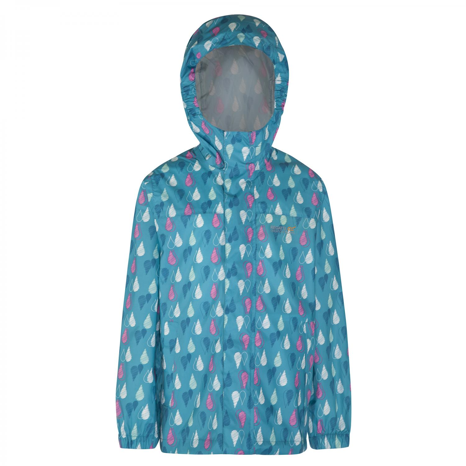 Kids Printed Pack It Jacket Aqua