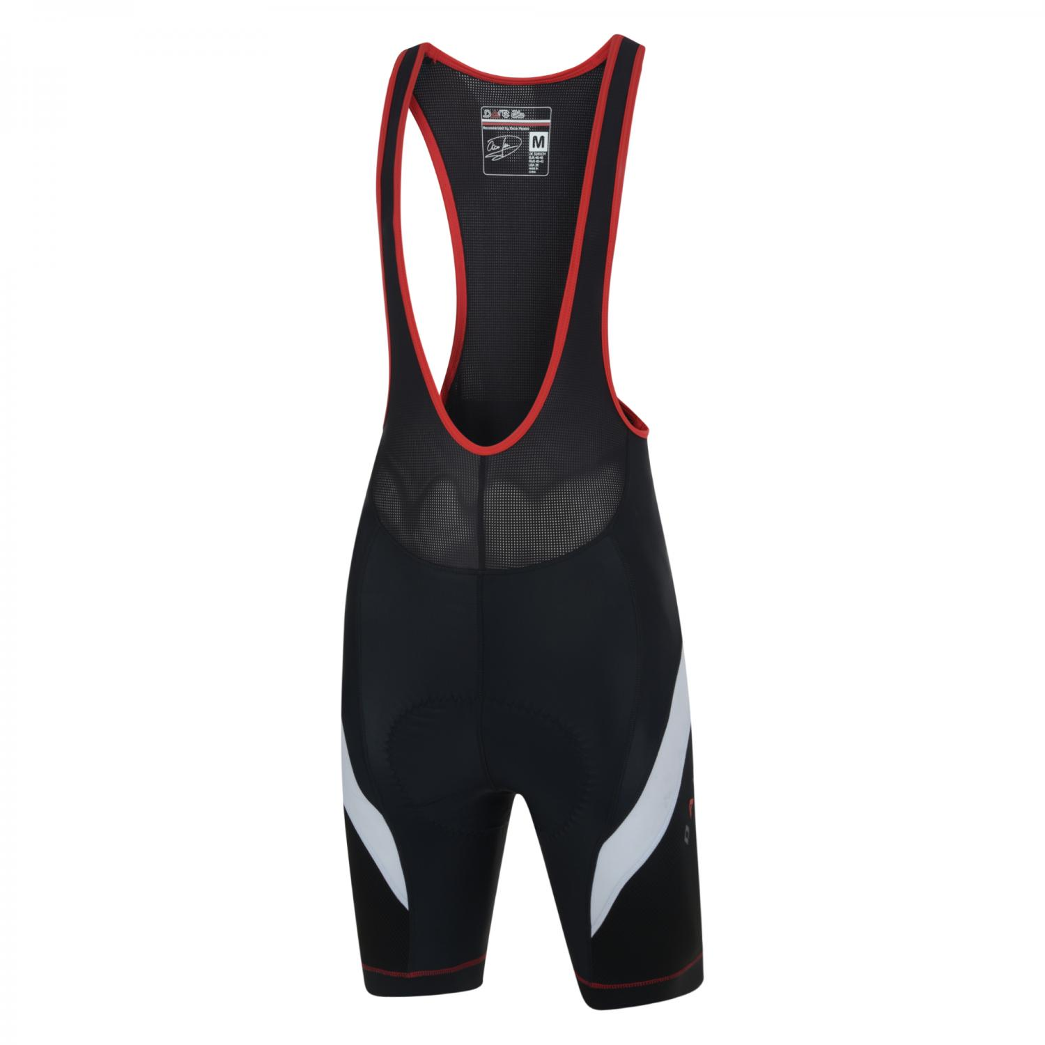 AEP Stage Race Bibbed Cycle Short Black   Fiery Red