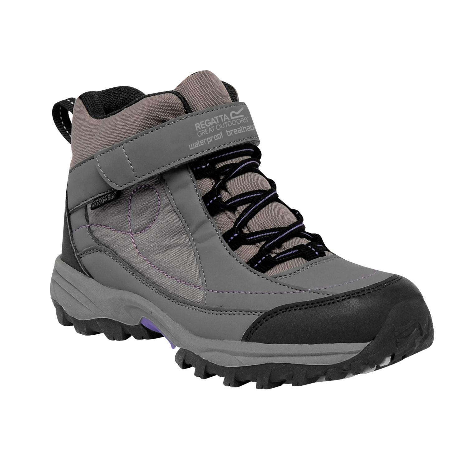 Clothing Accessories Girls Trailspace Mid Junior Walking Boot Grey Purple