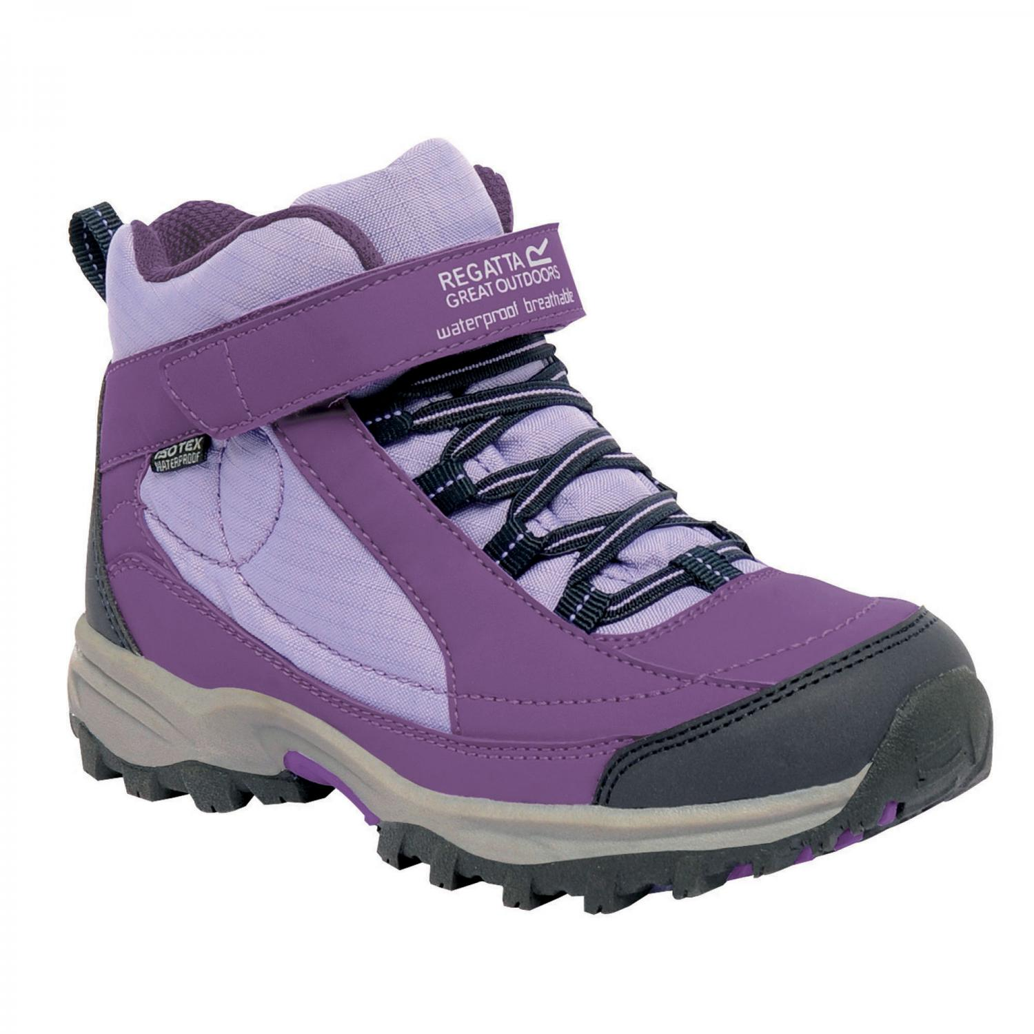 Clothing Accessories Girls Trailspace Mid Junior Walking Boot Purple Heart Palm
