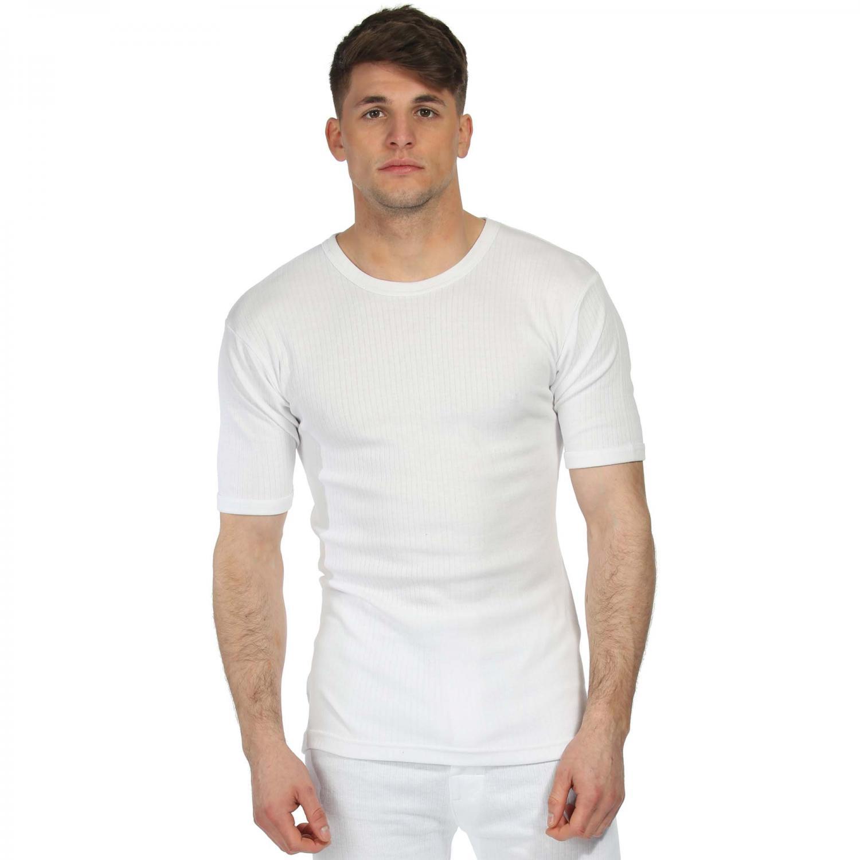 Short Sleeve Thermal Vest White
