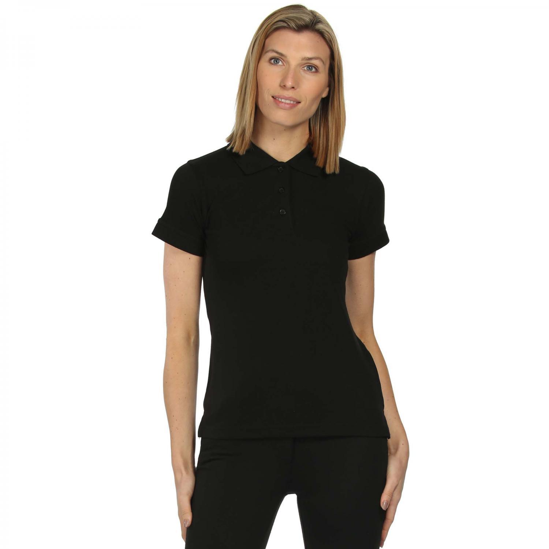 Womens Classic 65 35 Polo Shirt Black