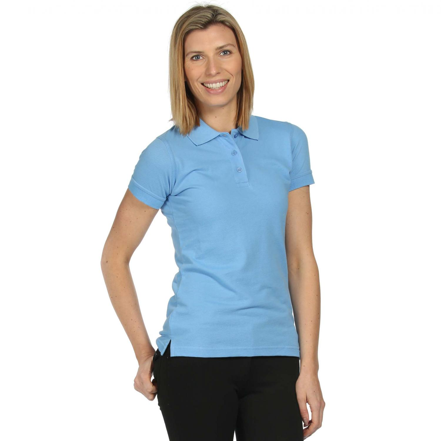 Womens Classic 65 35 Polo Shirt Blueskies