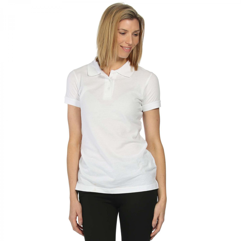 Womens Classic 65 35 Polo Shirt White
