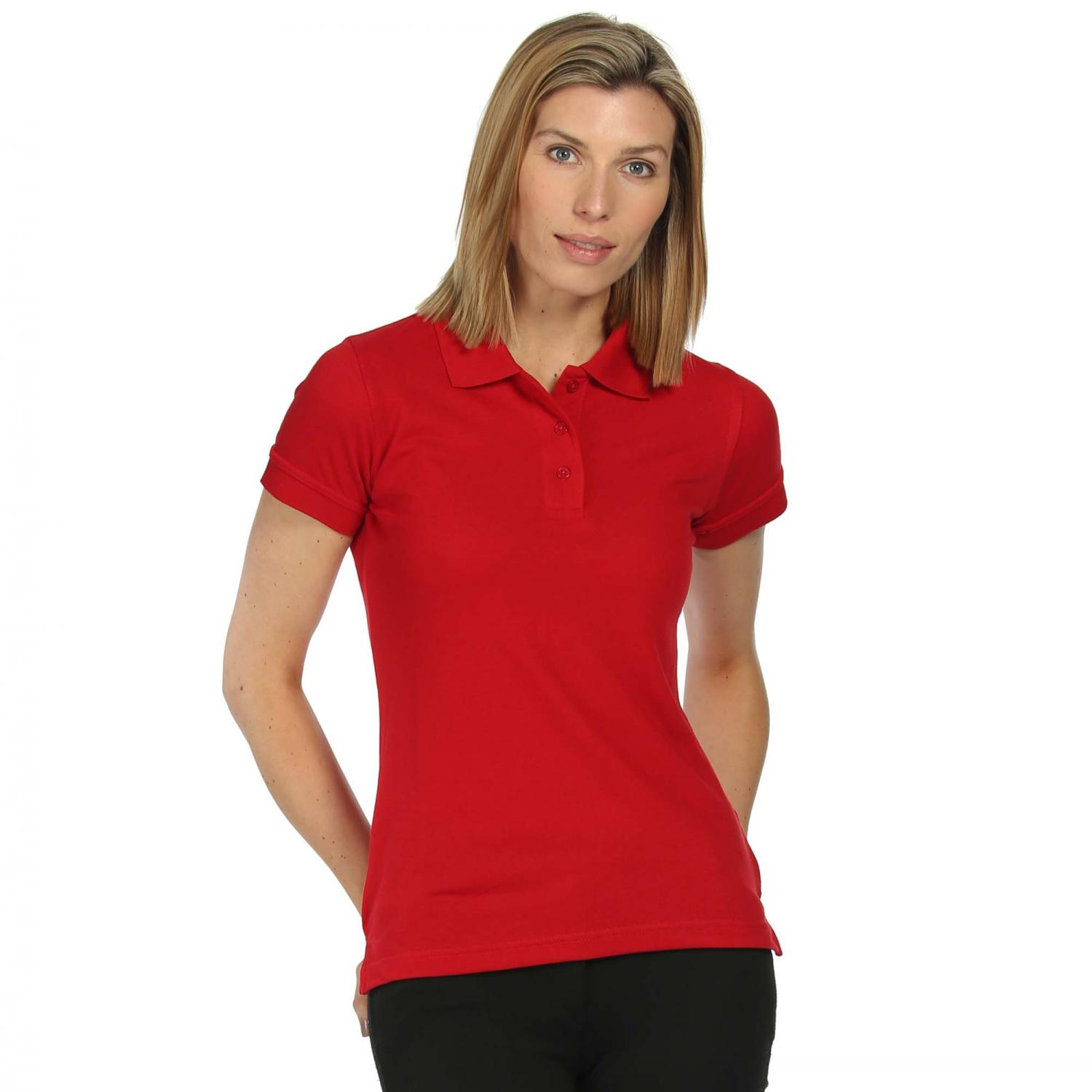 Womens Classic 65 35 Polo Shirt Classic Red