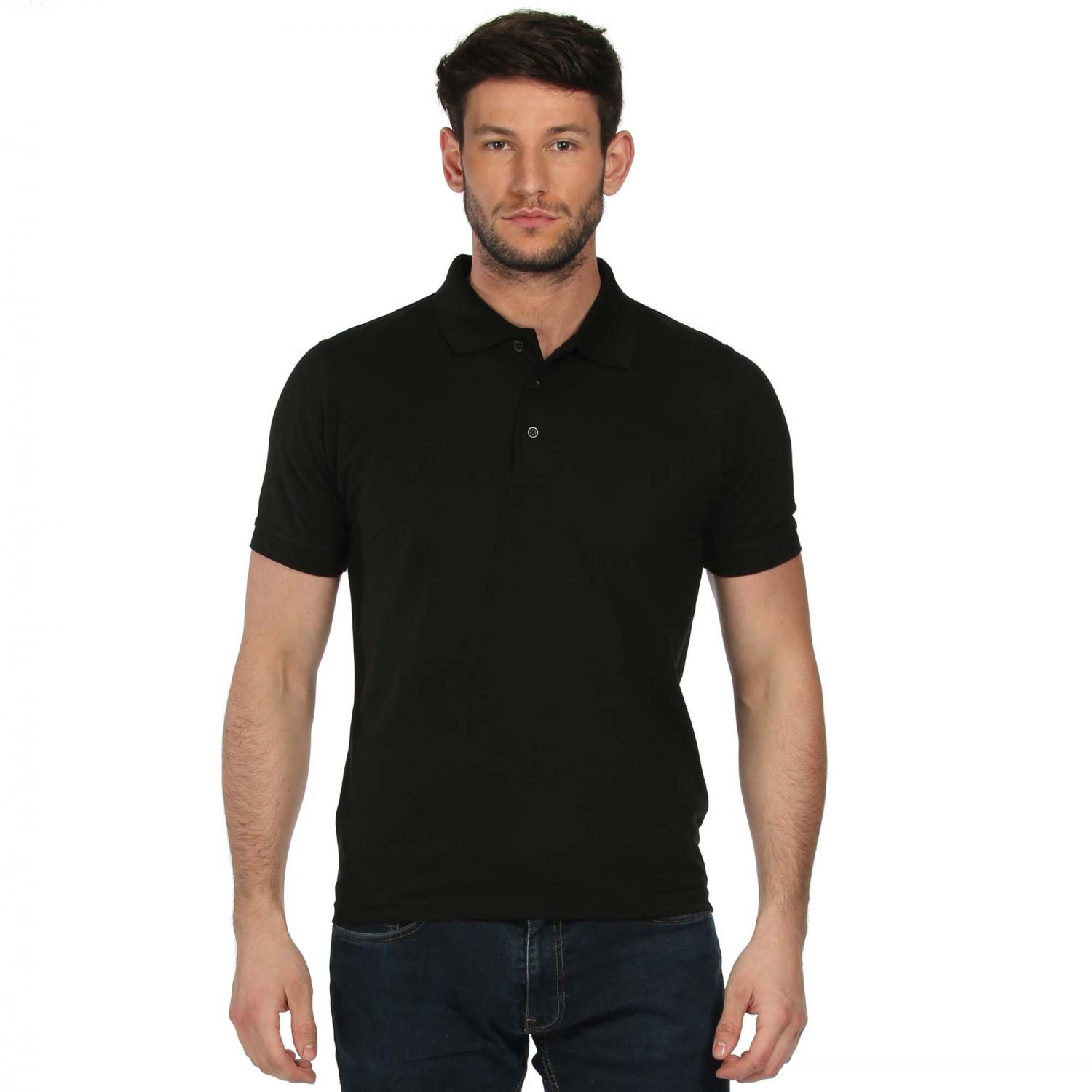 Classic Cotton Polo Shirt Black
