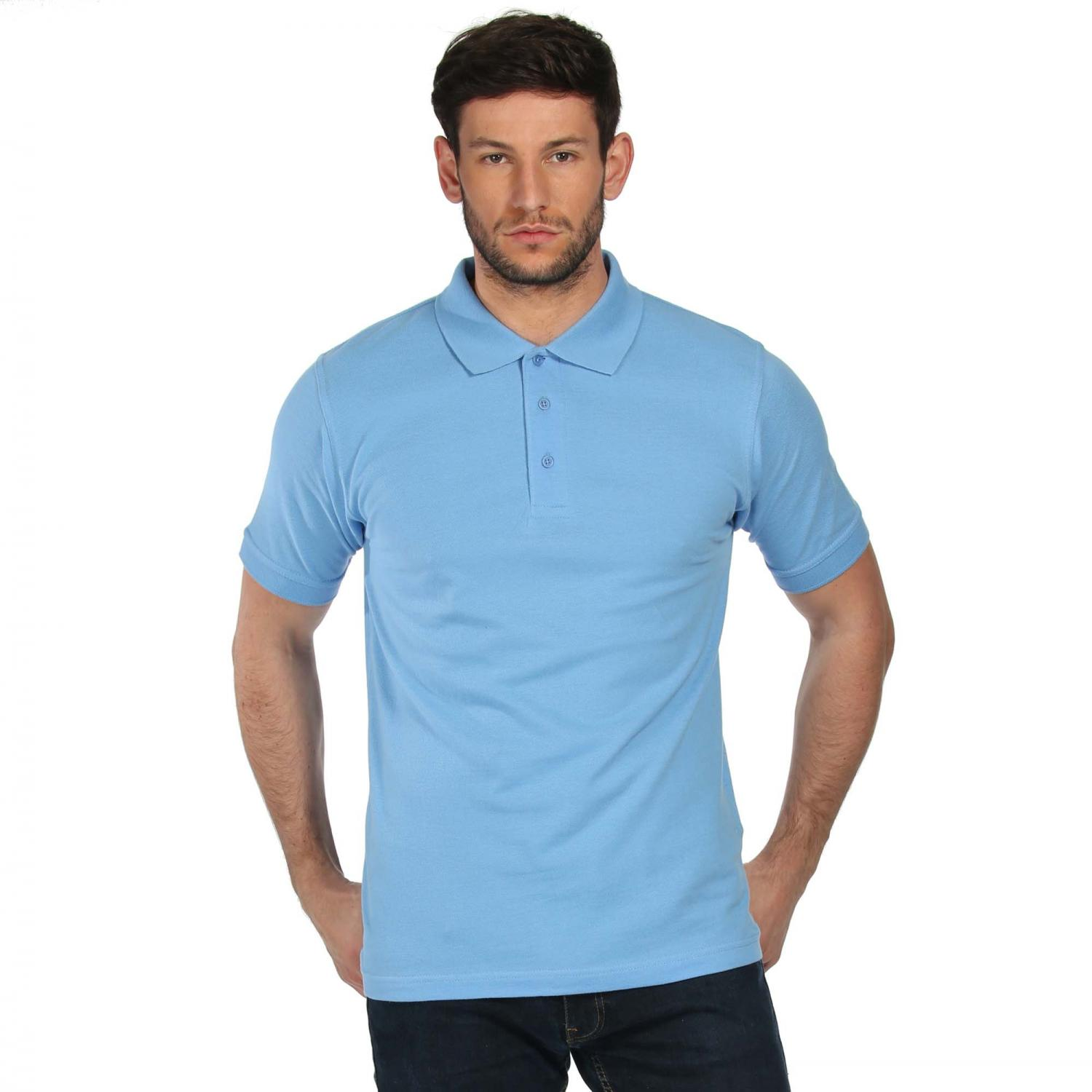 Classic Cotton Polo Shirt Blueskies