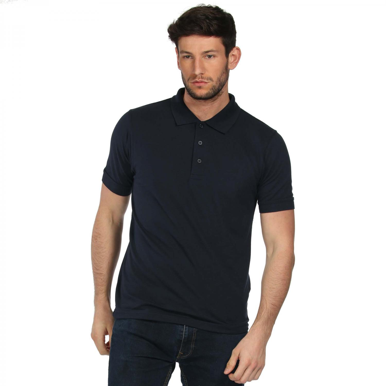 Classic Cotton Polo Shirt Navy