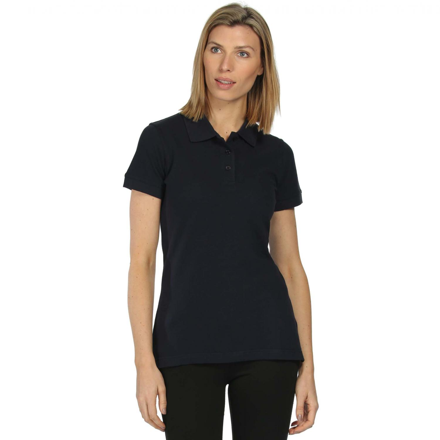 Womens Cotton Polo Shirt Navy