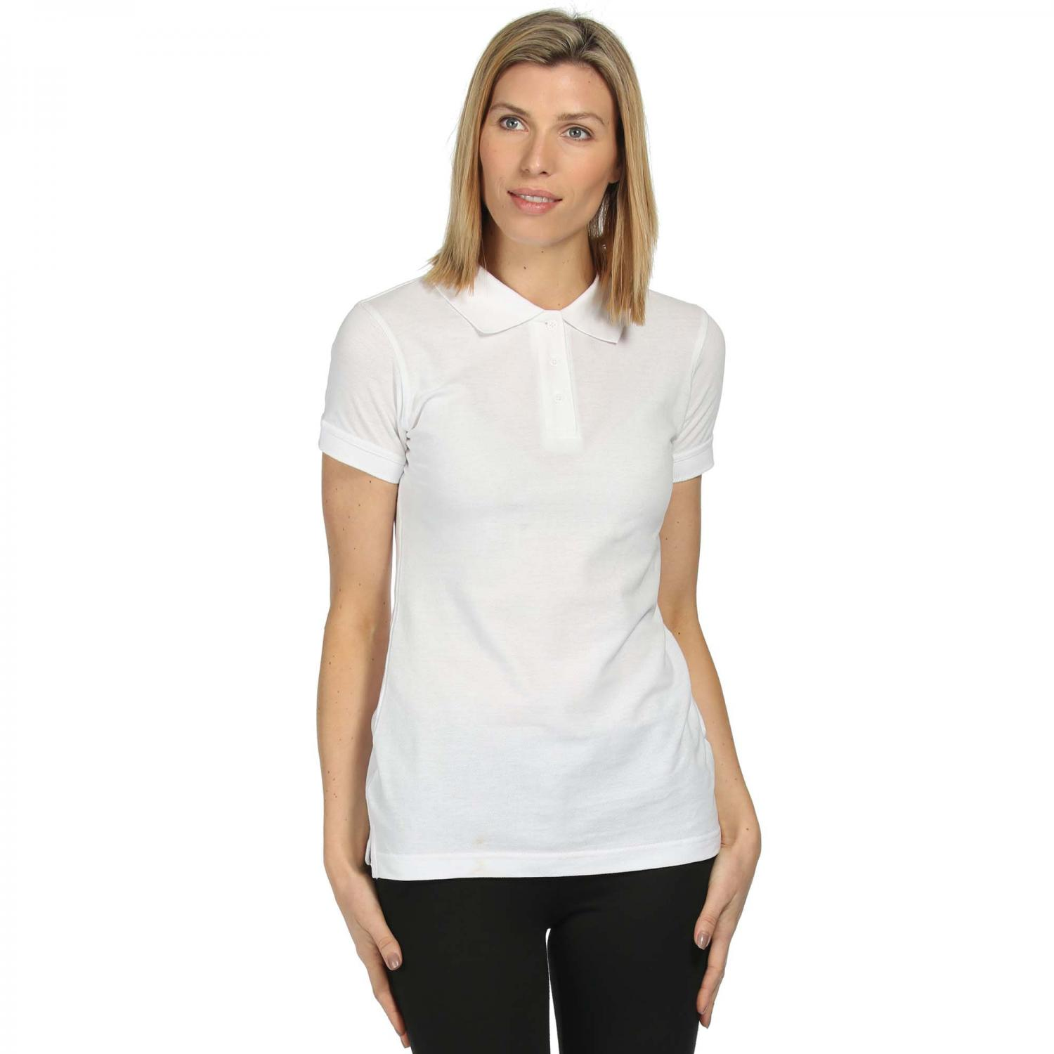 Womens Cotton Polo Shirt White