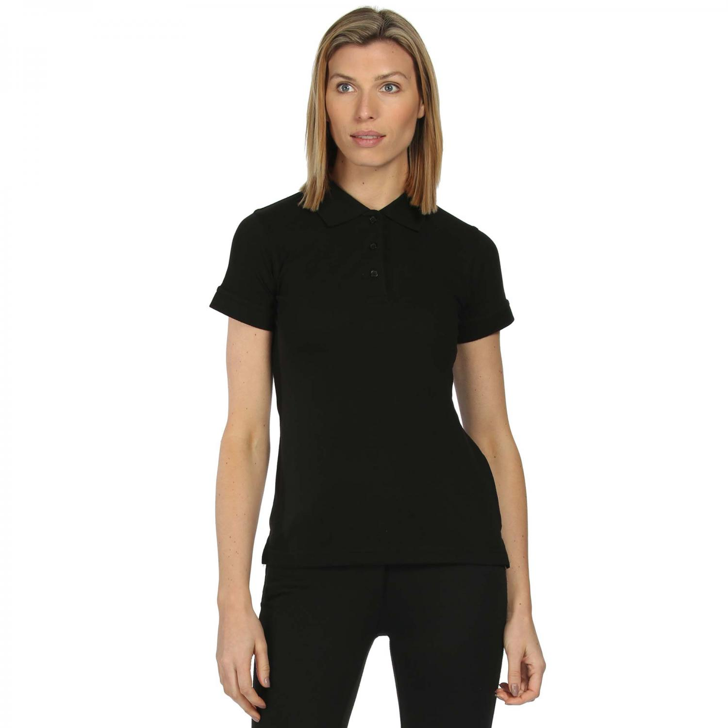 Womens Cotton Polo Shirt Black